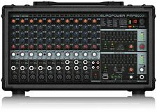 Behringer Pmp2000d 2000 Watt 14 Channel Powered Mixer