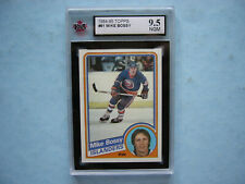 1984/85 TOPPS NHL HOCKEY CARD #91 MIKE BOSSY KSA 9.5 GEAR GEM MINT SHARP+ 84/85