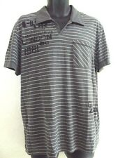 GUESS MEN CASUAL GREY POLO SHIRT SIZE L LARGE also fits Medium size EE70