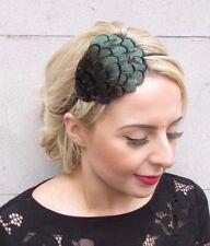 Vert noir LADY AMHERST Pheasant Serre-tête plume courses cheveux 4130