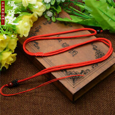 1 Pcs Red Natural wood beads Circle string cord rope for pendant Necklace A206