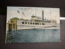 Steamer BETTY ALDEN, Plymouth, Mass Naval Cover unused post card