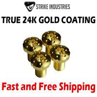 Strike Industries 1911 Torx Pistol Grip Screws - True 24K Gold-Plated (4 PC)