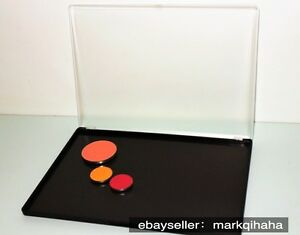 LARGE black customized MAGNETIC clamshell makeup Palette w/ transparent cover