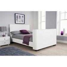 Electric TV Bed Furniture Newark 135cm TV Bedstead White