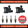 4x Genuine NGK Spark Plugs & 2x Ignition Coils for Toyota HiLux RZN149/154/169