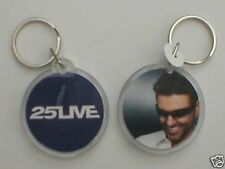GEORGE MICHAEL 25 live face PLASTIC KEYCHAIN official ex tour merchandise WHAM