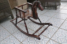 VINTAGE CHILDS WOODEN HORSE ROCKING CHAIR