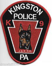 """Kingston K-9 Doberman, Pa (4"""" x 5"""" size) shoulder police patch (fire)"""