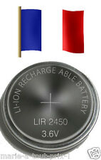 Accu pile rechargeable LIR 2450 3.6V Li-ion coin battery LIR2450 batterie CR2450