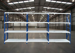 2Mx6Mx0.6M  Metal Warehouse Racking Garage Shelving 2700kg Storage Shelves