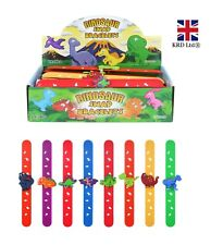 DINOSAUR SNAP BAND Bracelet Slap Bands Birthday Party Bag Boys Kids Toy Gift UK