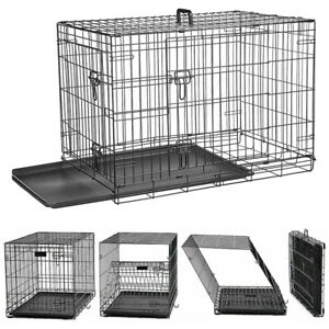 Dog Cage Puppy Pet Crate Carrier - Small Medium Large S M L XL XXL Metal Cage