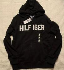 Mens Tommy Hilfiger Black Zip Up Hoodie Logo Sweatshirt...