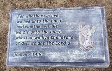 "bench top mould bible Romans 14:8 abs plastic concrete mold 22""x13.5"" x2.25"""