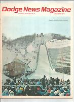 Dodge News Magazine January 1972 - Sapporo, Site of the Winter Olympics