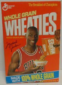 Wheaties Box Michael Jordan Pouring Cereal 1990, Series 87 Empty Box 18oz