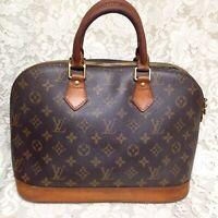 Louis Vuitton Brown Mono Coated Canvas Alma Handbag 12in x 9in x 7in