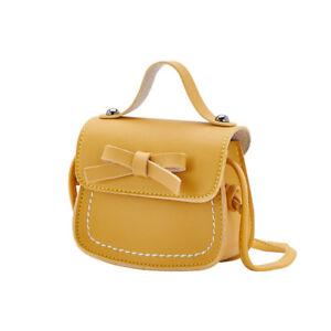 Children Girls Princess Bow Leather Handbag Crossbody Messenger Bag Cute Gift