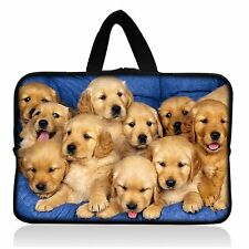 """AUPET Cute Dogs Universal 7"""" ~ 8"""" inch Tablet Portable Neoprene Zipper Carrying"""