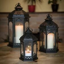 Retro Moroccan Lanterns Tea Light Holders Candle Holder Home Garden Set Of 3 New