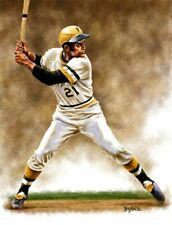 Roberto Clemente Pittsburgh Pirates 11 X 14 Giclee by James Byrne Series 1