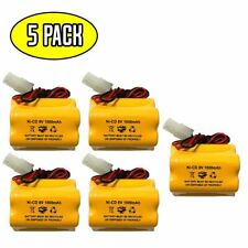(5 pack) 6v 1000mAh Ni-CD Battery Pack Replacement for Emergency / Exit Light