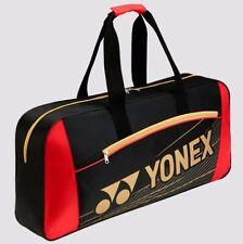YONEX Team Series Rectangular Tournament Racquet Bag 4711EX, Black/Red, 2017 New