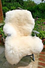 "60"" 150 cm Sheepskin Fur Rug Skin 100% Natural White/Ivory Sheep Skin very soft"