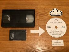 VHS Tape to DVD Conversion Service Video Tape Transfer VHS-C FAST TURN AROUND!!!