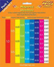 Teach Yourself Decimals Fridge Magic Magnetic Numeracy Teaching Resource Set m10
