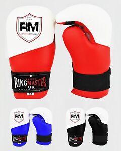 RingMaster Semi Contact Point Gloves Open Palm Taekwondo Kickboxing Training K1
