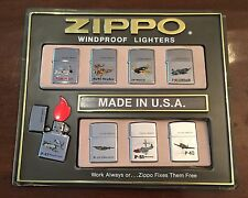 Zippo Lighter Collection (8 Lighters) Vintage Aircrafts High Polished Designs