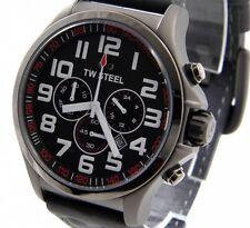 TW STEEL TW-423 PILOT Style Herren Uhr Edelstahl Titanfarben XXL 50mm  > > NEU
