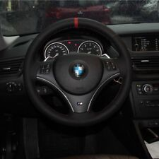 New Anti Slip Black Leather Steering Wheel Stitch on Wrap Cover For BMW X1 E90