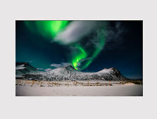 607 X LARGE CANVAS WALL ART AURORA BOREALIS NORTHERN LIGHTS WINTER PRINT PICTURE