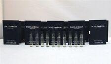 Dolce & Gabbana D&G Pour Homme Men's EDT .05 oz 1.5 ml Splash Vials New x 20 PCS