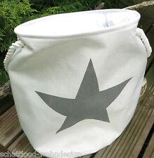 Panier à Linge Sac de vêtements étoile beige gris CORBEILLE EN TISSU