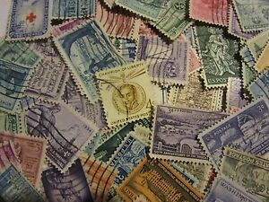 """OLDER USA postage stamp lots """"ALL DIFFERENT USED"""" 3  AND 4 CENTS FREE SHIPPING"""