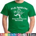Drunk Guy On The Floor Funny Drunk 1 St Patricks Day Tee T shirt