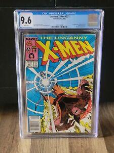 Uncanny X-Men #221 CGC 9.6 | White Pages | 1st App Mr Sinister Newsstand Variant