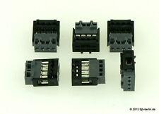 Massoth 1311146 Kabelstecker 4-polig - 6 Stück mit Federgehäuse für LGB Spur G