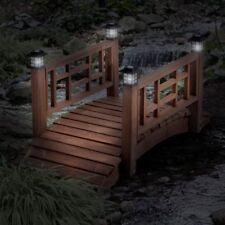Brown 4 Ft Led Light Posts Garden Bridge Outdoor Home Furniture Garden Backyard