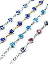 Evil Eye Chain Bracelet Adjustable for Women Protection #2505