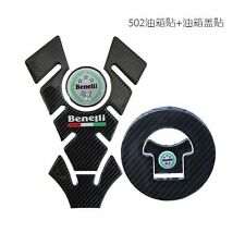 Carbon Fiber Black Motorcycle Oil Box Protector Pad Fuel Tank Stickers F Benelli