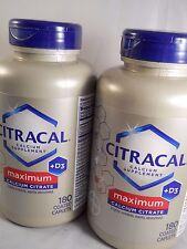 Citracal Maximum Calcium Citrate +D3 180 Tablets ea (2pk bundle) exp 7-2018
