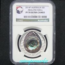 2014 Australia Abalone Shell 1oz Silver Proof Coin NGC PF 70 UC Perth Mint COA!