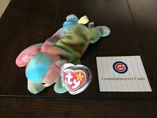 VARY RARE Sammy beanie baby 1998 1999 Tag Error Commemorative Card Chicago Cubs