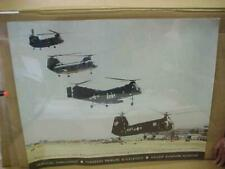 2002 Us Army Poster 4 Helicopters Ch-47 Ch-46 H-21 Hup-1 Hiller Aviation Museum