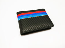 1PCS Carbon Fibre Leather Wallet Car Licence Bag Card Package Purse For BMW